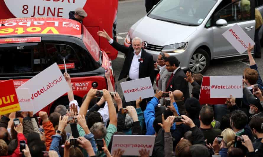 Jeremy Corbyn campaigns in Harrow, London