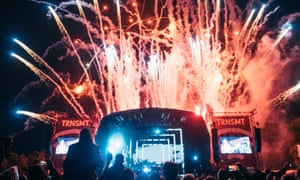 Fireworks at TRNSMT festival in Glasgow, Scotland