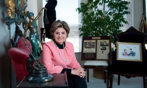 The women's rights attorney Gloria Allred poses for a portrait session at her office in Los Angeles, California.