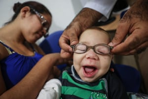Child tested with new glasses