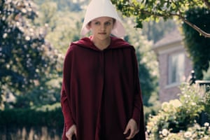 Offred, played by Elisabeth Moss, in The Handmaid's Tale.