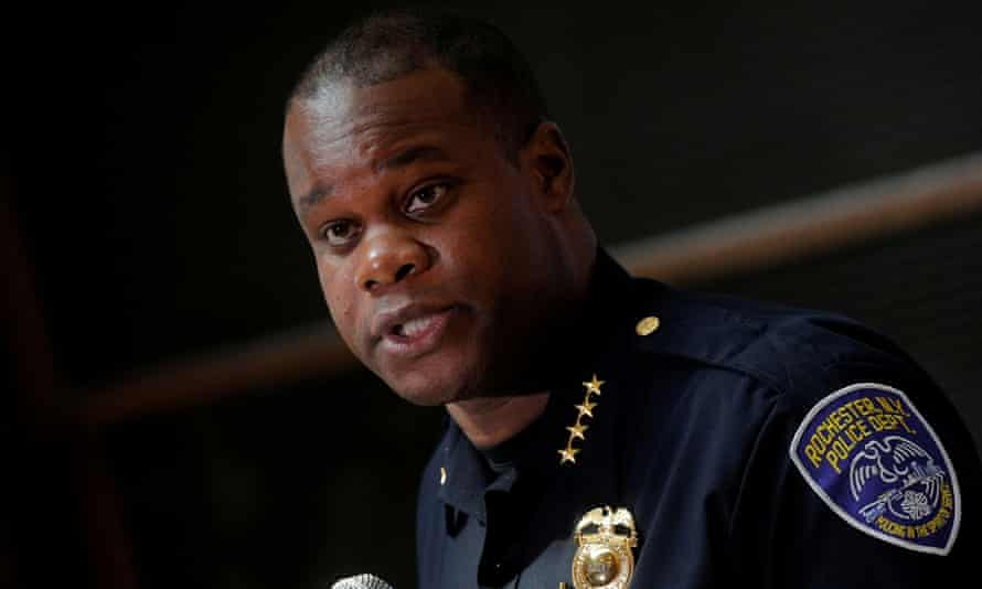 La'Ron Singletary, the Rochester Police Chief, during a news conference on 6 September regarding the protests over the death of Daniel Prude in March.