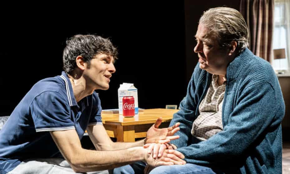 Big existential questions … Colin Morgan as Bernard 1 and Roger Allam as Salter.