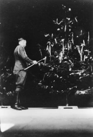 This photograph of Höcker lighting candles on a Christmas tree was taken during Christmas 1944, possibly at the rest hut near Porąbka. There are three photographs of him with the tree; there is no sense of celebration, yet he wanted the moment recorded. As a writer, these photos intrigued me – and led directly to my novel, The Constant Soldier, a fictional imagining of life during the last few months of the war in a rest hut similar to the one in the photos