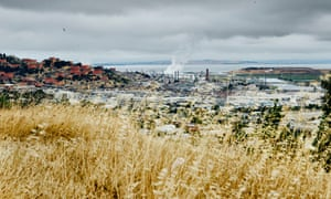 The Chevron refinery, seen from the hilltop of the Point Richmond neighbourhood in California.