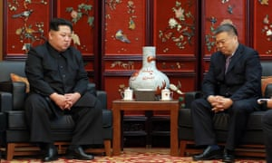 Kim Jong-un meets with China's ambassador, Li Jinjun, after 32 Chinese tourists and four North Koreans died in a bus crash.