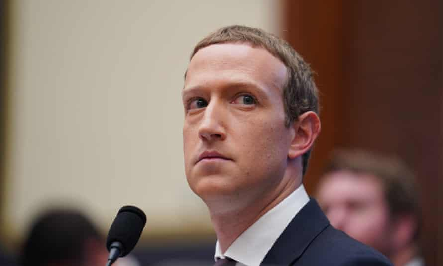 Mark Zuckerberg testifies before the House financial services committee in Washington DC, on 23 October.