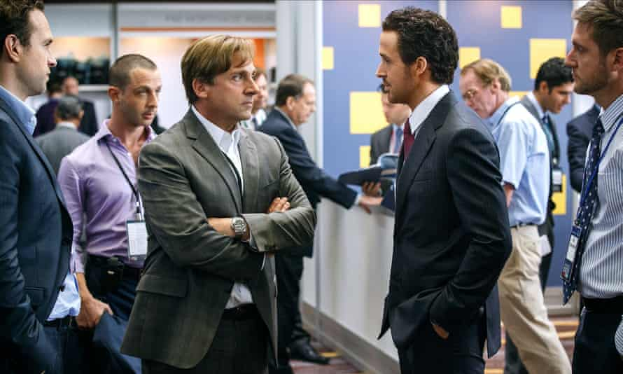 Steve Carell and Ryan Gosling in The Big Short.