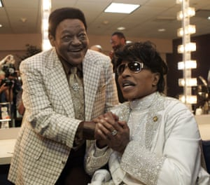 With Little Richard at a tribute concert for Domino in 2009