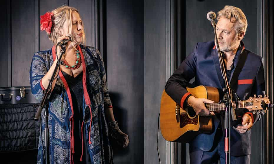 They inhabit these songs … Naomi Bedford and Paul Simmonds.