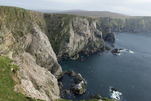 The dramtic coastline on the island of Unst, Shetland.