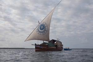 the Safari Doctors' boat, off the coast of eastern Kenya