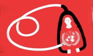 Illustration for Philippa Whitford's Gaza visit by Sébastien Thibault