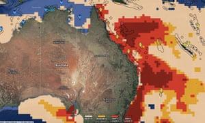 Satellite thermal map