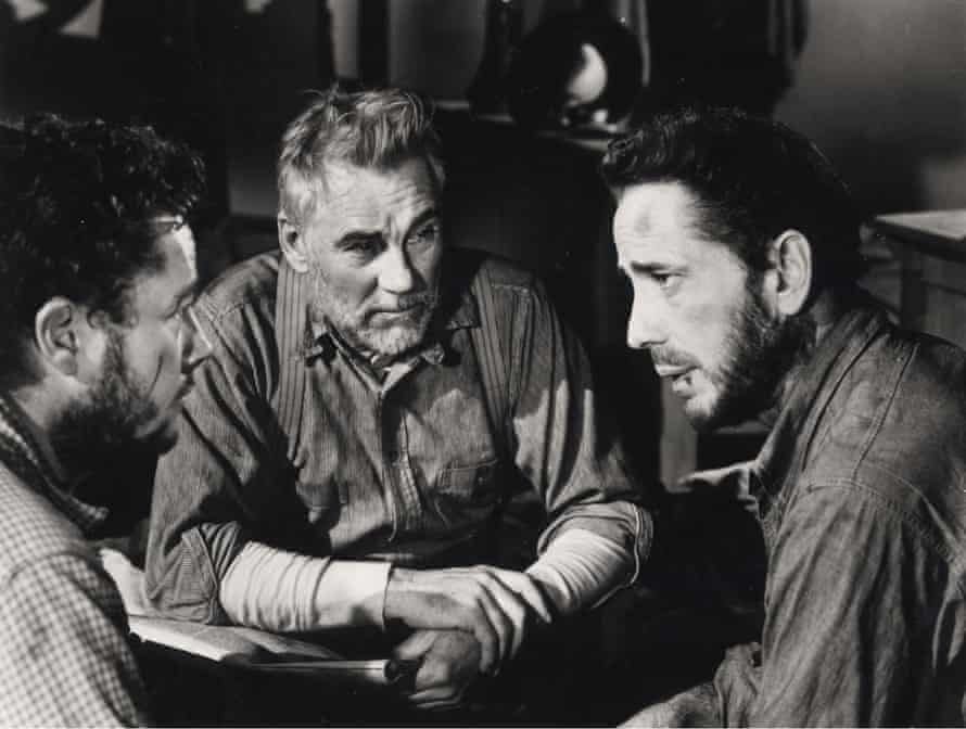 Ta da … grandfather Walter Huston, centre, with Humphrey Bogart in The Treasure Of The Sierra Madre.