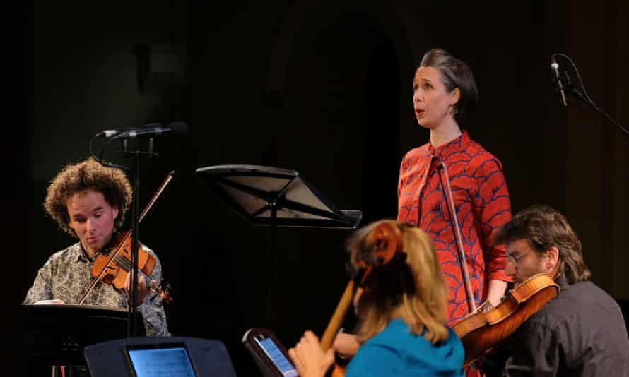 Soprano Juliet Fraser performs with members of the Sonar Quartett at the Huddersfield contemporary music festival.