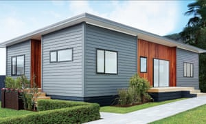 An example of a Bunnings NZ Flat-Pack Home from a brochure for prefab housing.