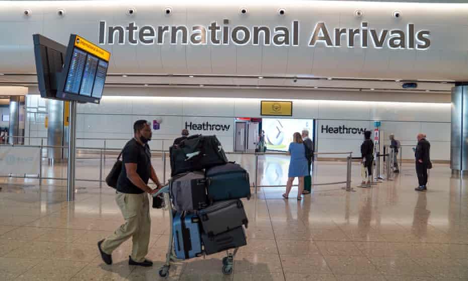 A passenger arriving at Heathrow