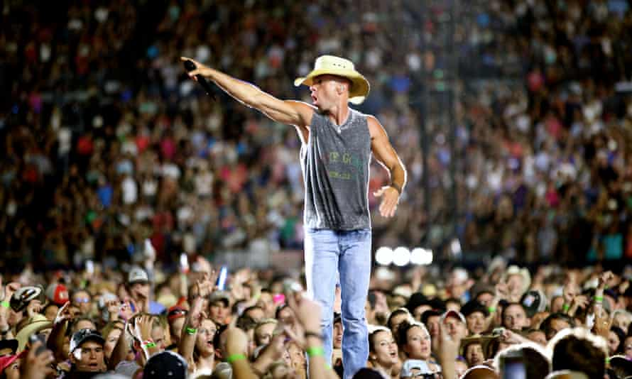 Hat's entertainment: Chesney in action.