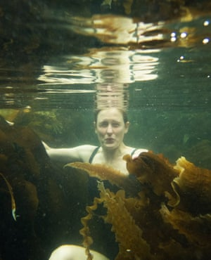 Amy Liptrot swims in pools at Upper Garson