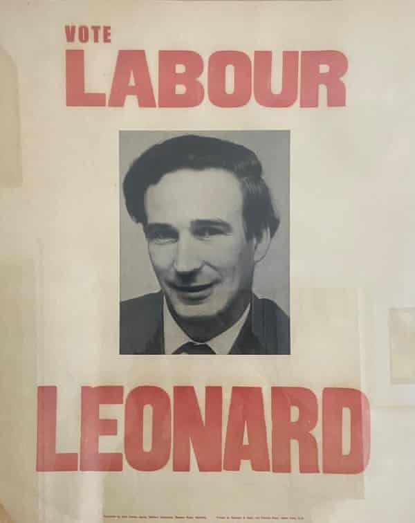 An election poster for Dick Leonard. He served as an MP in the 1970s