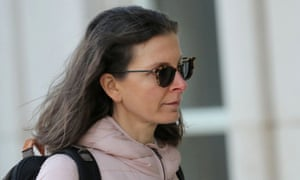 Clare Bronfman arrives at court in Brooklyn, New York, on 9 January 2019.