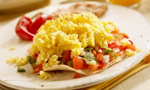 Mexican-style scrambled eggs.