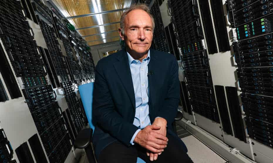 "Tim Berners-Lee ... 'After Brexit and Trump, I think a lot of people realised: ""We need to have a web that spreads more truth than rubbish.""'"