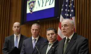 NYPD commissioner Bill Bratton at police headquarters in New York.
