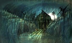 Concept art by Samuel Wyer for Goosebumps Kids