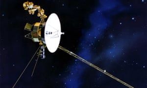 An artist's rendition of the Voyager spacecraft.