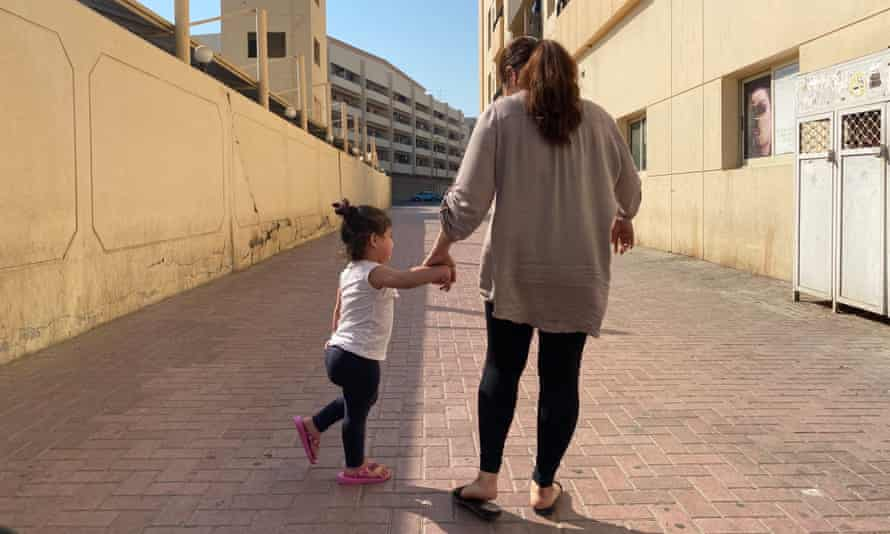 'Maria', came to the UAE from the Philippines to work as a live-in maid, but fled her abusive employer. Her daughter is now two, and they are homeless.