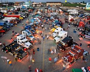 Trucker's Jamboree #1, Walcott, Iowa, USA, 2003. All Photographs: © Edward Burtynsky 2016/Courtesy Metivier Gallery, Toronto / Howard Greenberg Gallery and Bryce Wolkowitz Gallery, New York