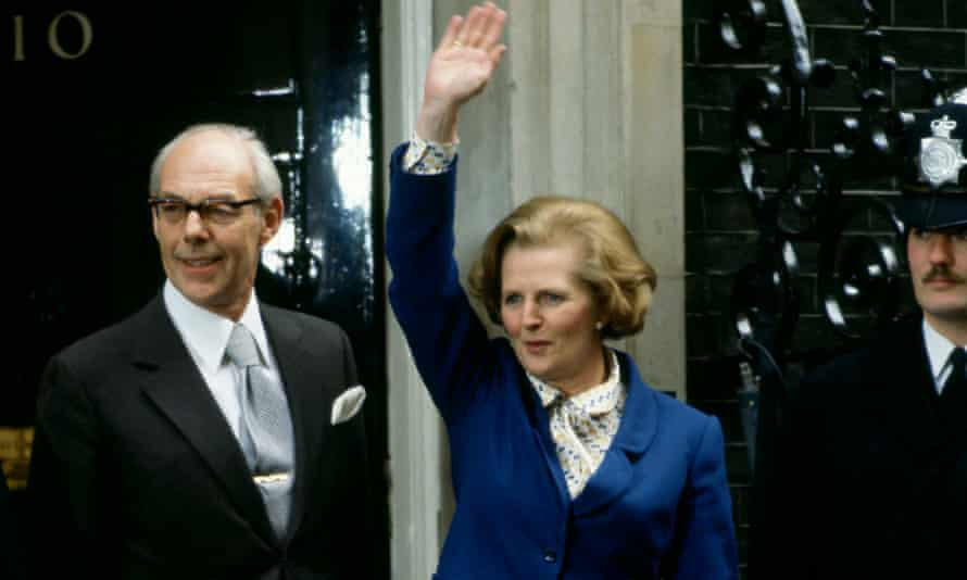 Margaret Thatcher at 10 Downing Street following her election victory, May 1979