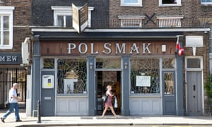 A Polish shop in Hackney, east London.