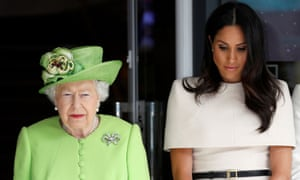The Queen and the Duchess of Sussex observe a moment of silence in memory of the victims of the Grenfell Tower fire during their visit to Chester