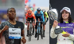 South Africa's Caster Semenya competes in Doha; Marianne Vos wins stage two of the 2019 Women's Tour de Yorkshire, and Jamie Chadwick celebrates W Series victory at Hockenheim.