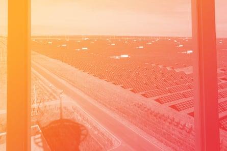 Longyangxia Dam Solar Park in China's Qinghai province.