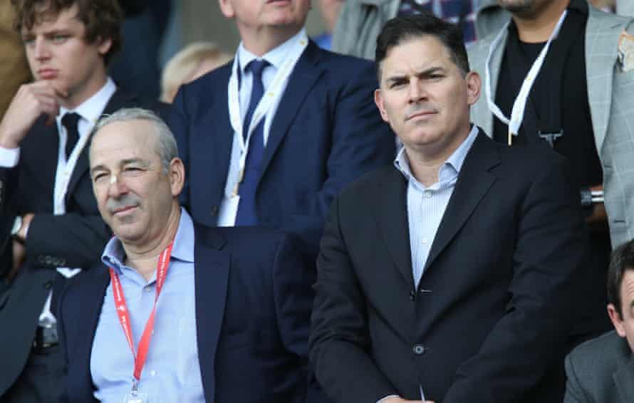 Swansea City owners Steve Kaplan, left and Jason Levien.