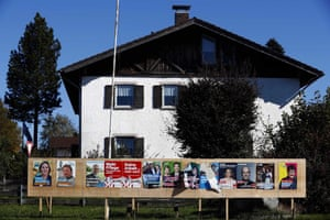 Election posters in the small village of Hundham, Bavaria