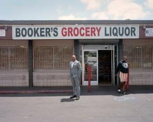 Ersie Joyner in East Oakland, where he grew up.