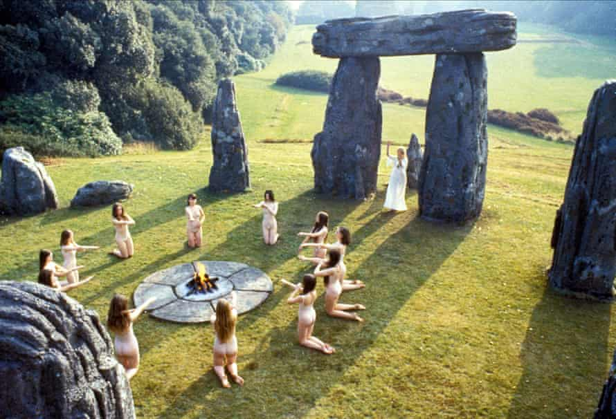 A worship scene from The Wicker Man