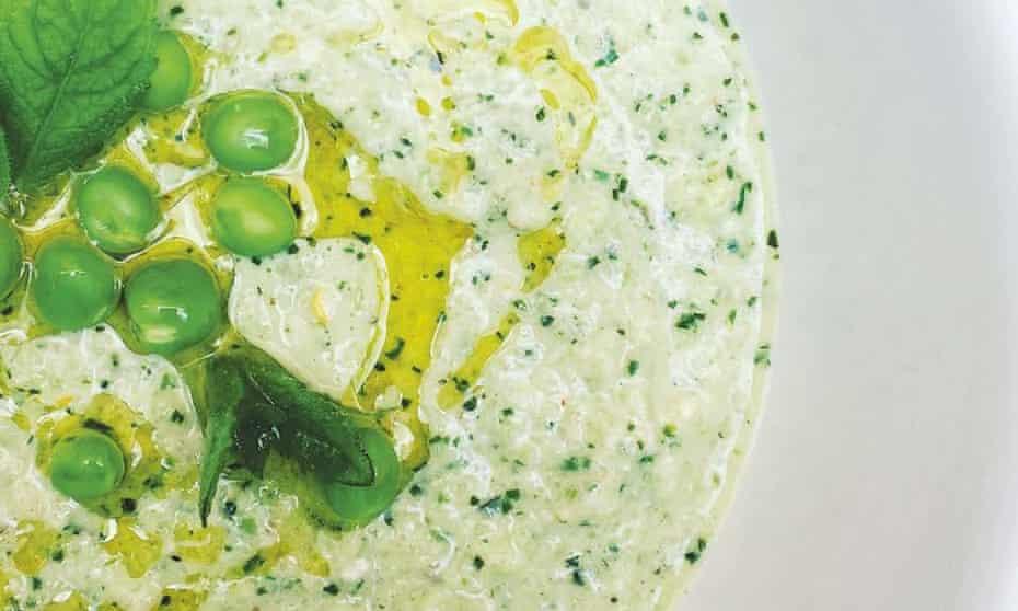 Chilled summer garden soup with nasturtium pesto Anna Hedworth