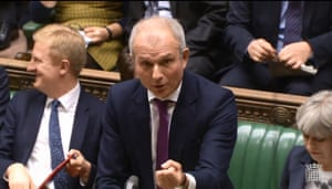 Britain's Minister for the Cabinet Office and Chancellor of the Duchy of Lancaster David Lidington answering questions in the House of Commons today