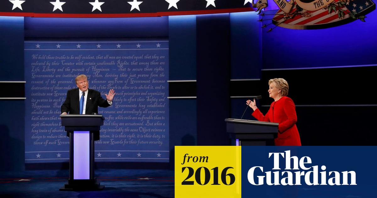 Trump loses cool while Clinton stays calm during first