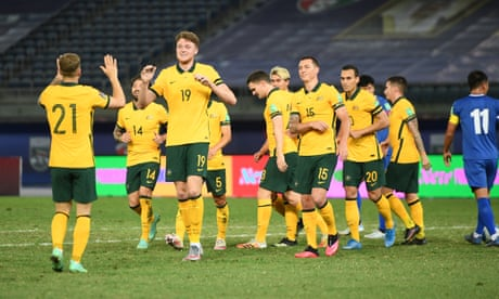 Socceroos move one step closer to Qatar with thumping win over Taiwan