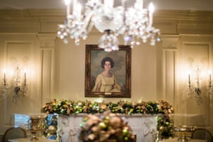 A portrait of Lady Bird Johnson