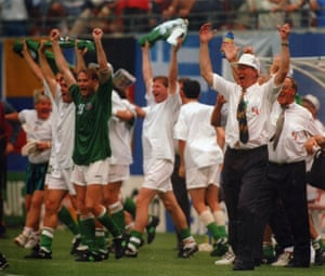 Four years after being defeated by Italy in the World Cup quarter-finals, Jack Charlton and the Republic of Ireland team had their revenge when they beat Italy 1-0 at the 1994 World Cup