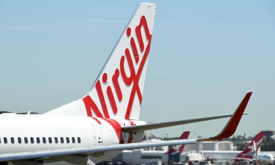 Virgin Australia and Qantas aircraft at Sydney airport