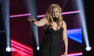 Comedian Amy Schumer speaks while accepting an award in Los Angeles.
